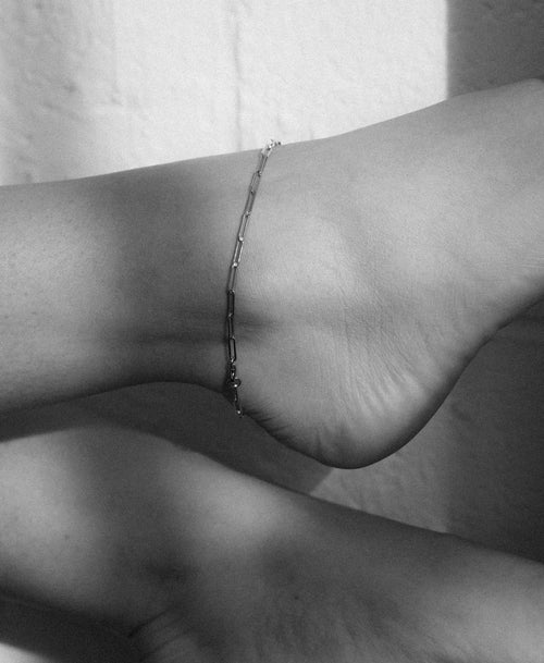 Paperclip Light Anklet