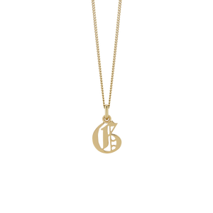 Petite Capital Letter Necklace