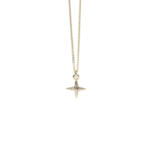 Petite Pave Star Charm Necklace