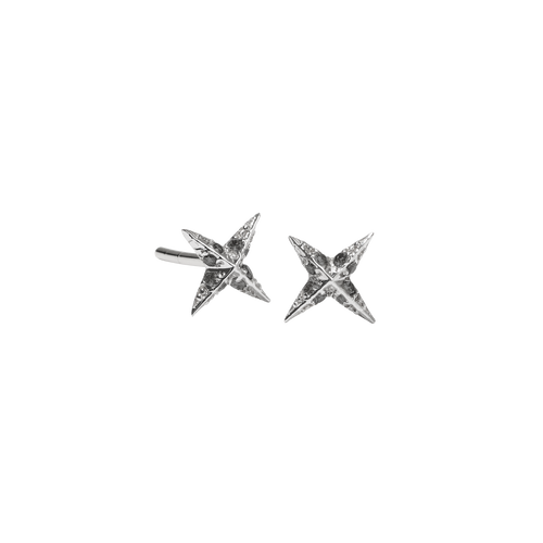 Petite Pave Star Stud Earrings