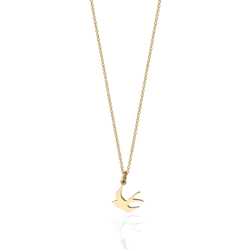 Swallow Charm Necklace