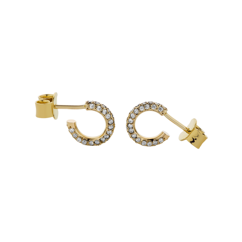 Taboo Hoop Earrings Pave