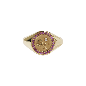 Amulet Love Signet Ring Pave