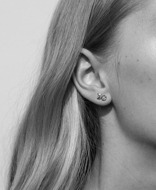 Alba Stud Earrings Stone Set