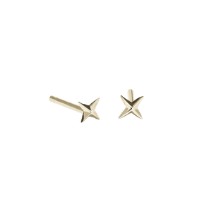 Micro Four Star Stud Earrings