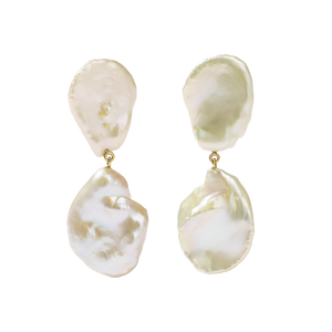 Petal Pearl Drop Earrings