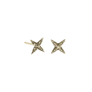 Petite Faux Pave Star Stud Earrings