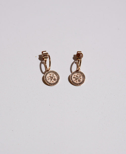 Amulet Peace Earrings Pave