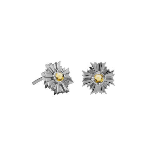 August Stud Earrings Stone Set