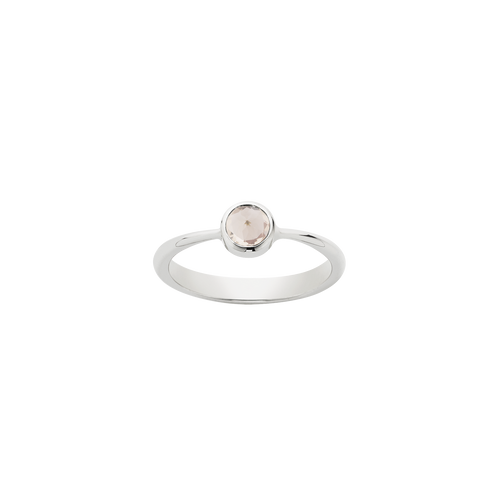 Crescent Solitaire Ring