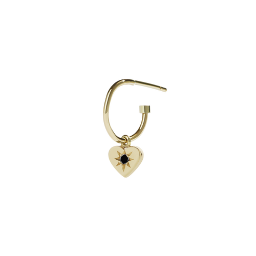 Diamond Heart Signature Hoop