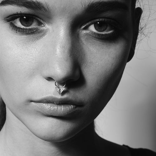 Diamond Point Septum Ring