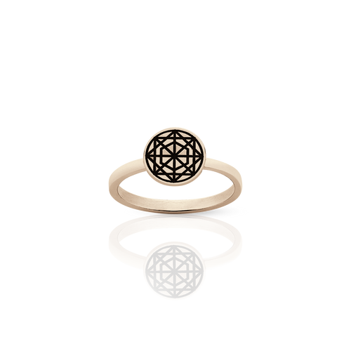 Etched Circle Stacker Ring