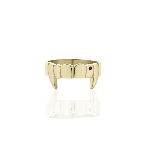 Fang Ring With Stones