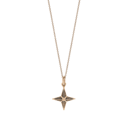 Faux Pave Star Charm Necklace
