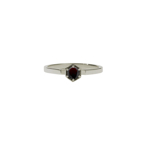 Hexagon Solitaire Ring
