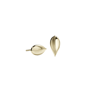 Leaf Stud Earrings Medium
