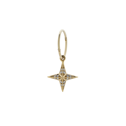 Pave Star Endless Hoop Single