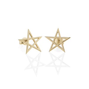 Pentagram Stud Earrings 20mm