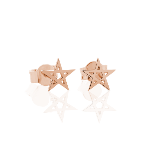 Pentagram Stud Earrings