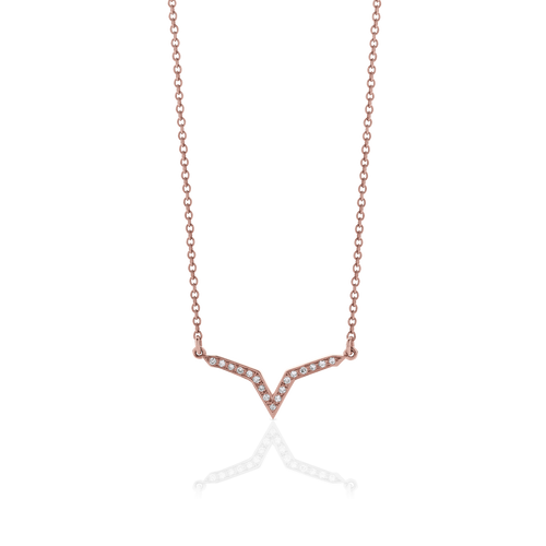 Star Line Necklace Pave