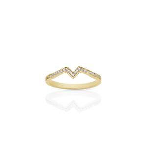 Inverted Star Band Pave