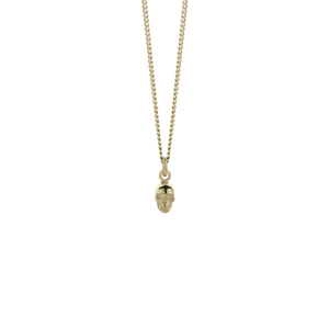 Micro Skull Charm Necklace