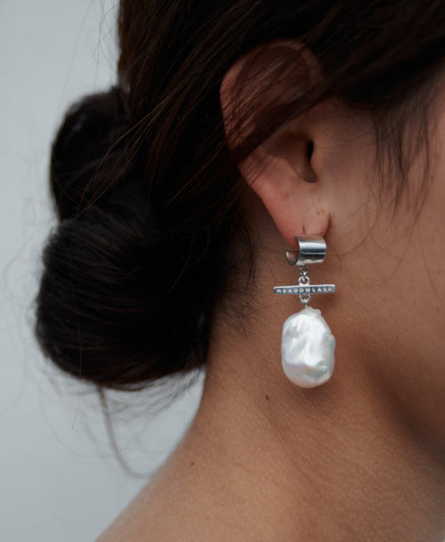 Fob Pearl Drop Earrings