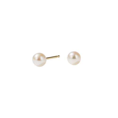 Seed Pearl Stud Earrings Large