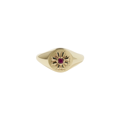 August Signet Ring Stone Set