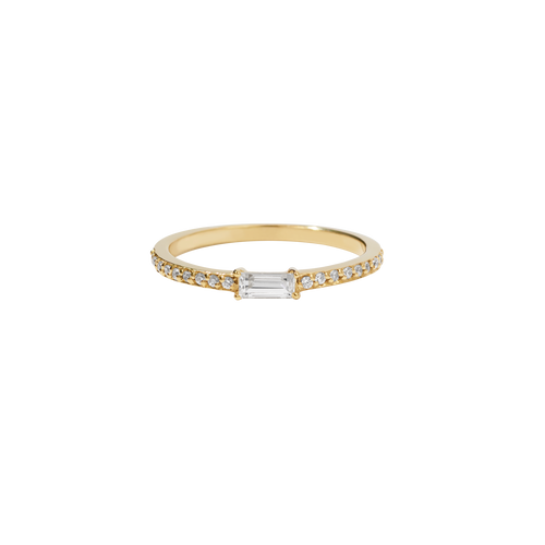 Baguette Pave Ring