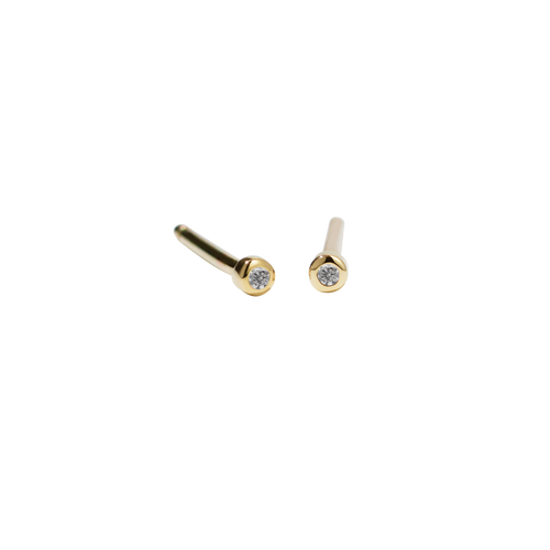 Diamond Dot Stud Earrings Micro