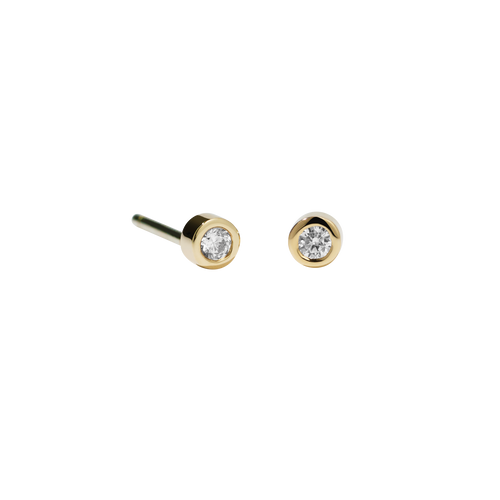 Diamond Dot Stud Earrings Petite
