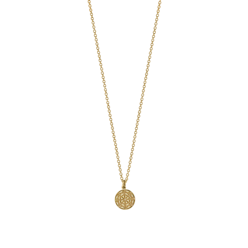 Etch Circle Charm Necklace