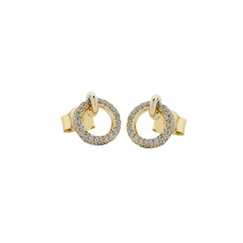 Halo Stud Earrings Pave