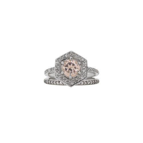 Hex Engagement Ring Set