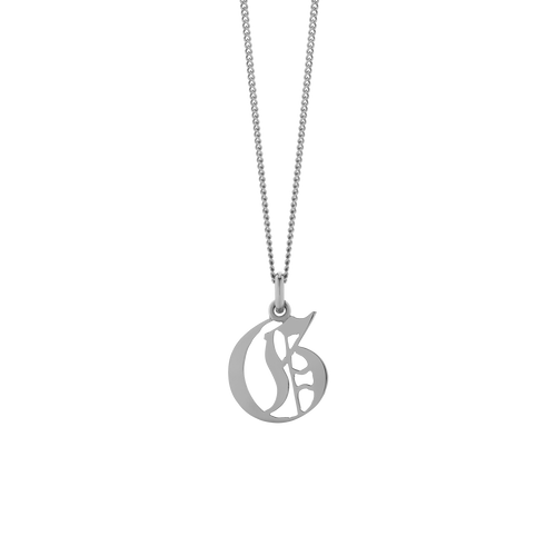 Large Capital Letter Necklace
