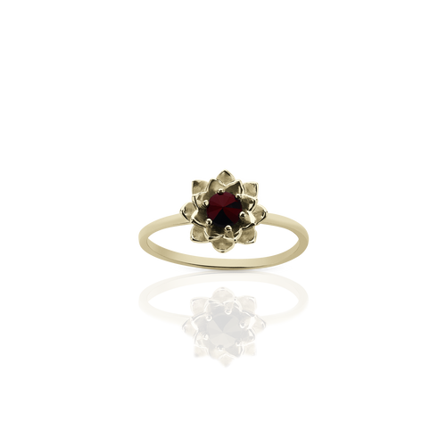 Protea Stacker Ring with Stone