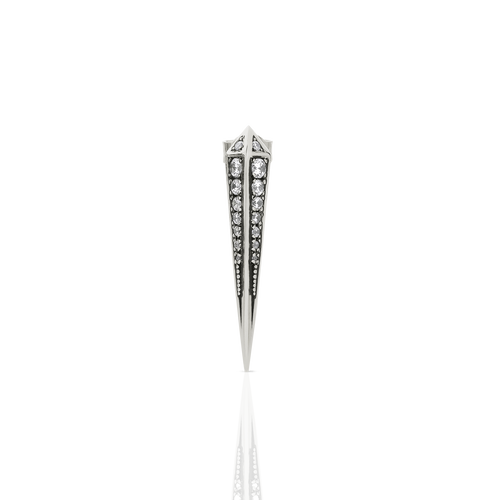 Spike Earring Pave Oxidised Single