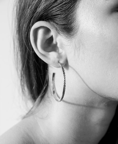 Violette Hoop Earrings Round
