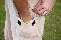 Handmade Beige Aladdin Mens Ashtanga Harem Alibaba Yoga Afghani Pants with pocket