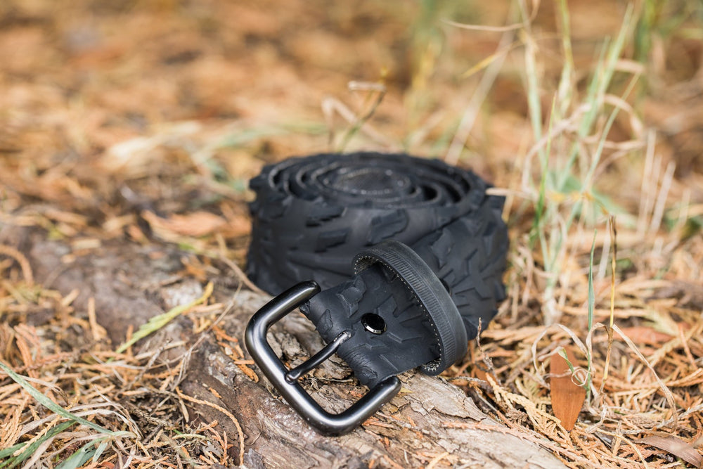 Buckle Belt Upcycled Inner Tube Recycled Bicycle Tyre, Durable Heavy Duty Sustainable One of a Kind AJJAYA