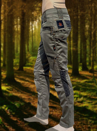 Osmosis Green Cargo Mens Pants Long Utility Tactical Functional Many Pockets Festival Tribal Gear Rave Comfortable Burning Trousers AJJAYA