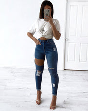 Miami 2.0 Jeans - Mid Blue | Australia Women's Online Fashion Clothing | Milan The Label