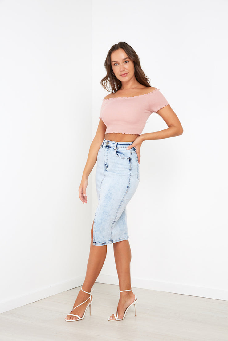 Evie Skirt - Light Blue - Milan The Label