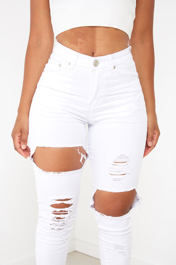 New Jersey Jeans - White - Milan The Label