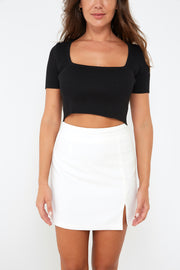 Ribbed Crop Tshirt