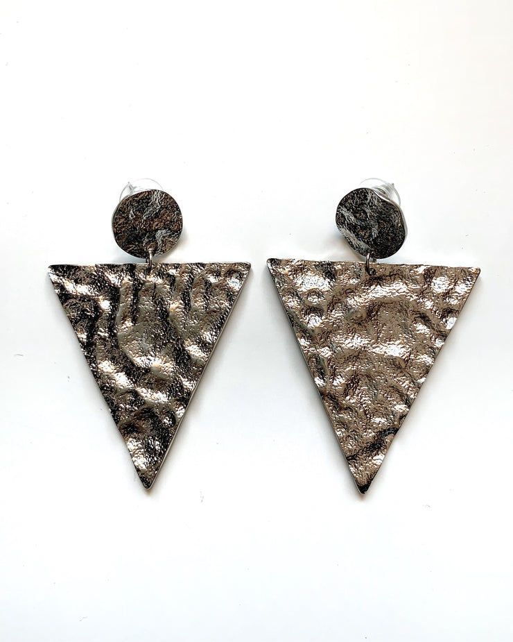 Triangle Earrings - Silver | Australia Women's Online Fashion Clothing | Milan The Label