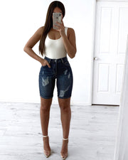 Florida Jeans Shorts - Dark Blue | Australia Women's Online Fashion Clothing | Milan The Label