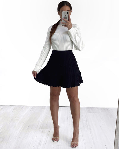 Diana Knit Skirt - Black